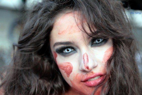 легкий макияж зомби