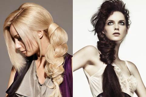 блондинка и брюнетка с хвостом