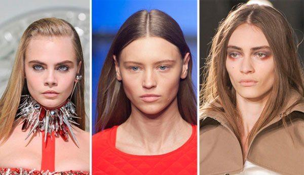 три длинноволосых модели