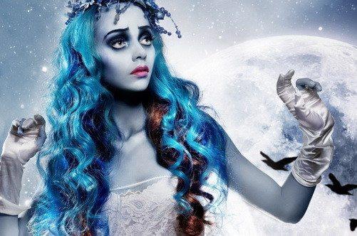 девушка с Хэллоуин make up