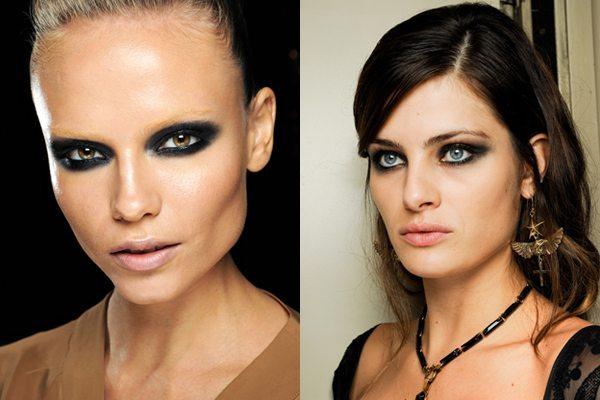 две модели с агресcивным Makeup глаз