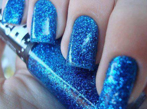 синие блестки