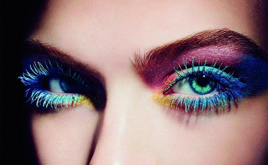 make up глаз в ярких тонах