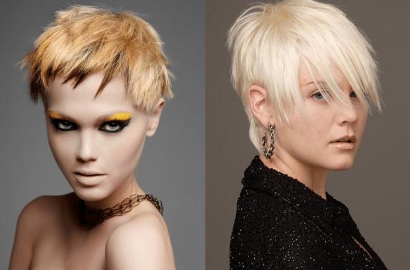 желтая блондинка и белая блондинка
