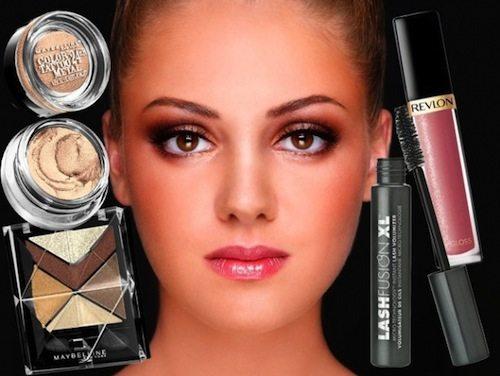 праздничный макияж для карих глаз