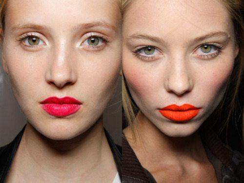 сочный make up губ