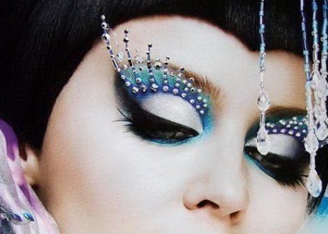 makeup со стразами