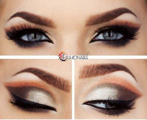 очень красивый make up глаз