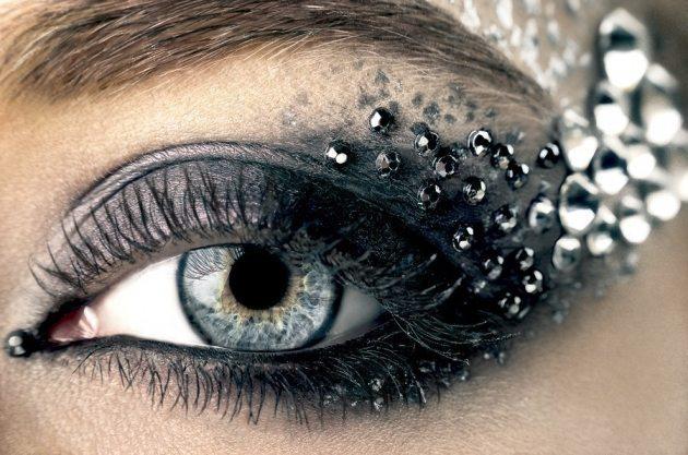 красивый makeup глаз невесты