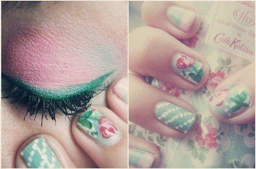 нежный принт в nail art