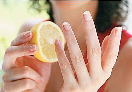 лимон для выведения желтизны