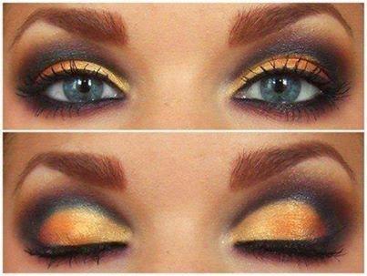 """мейк ап """"глаза в золоте"""""""