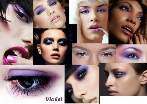 девушки с мейк ап глаз в одной цветовой гамме