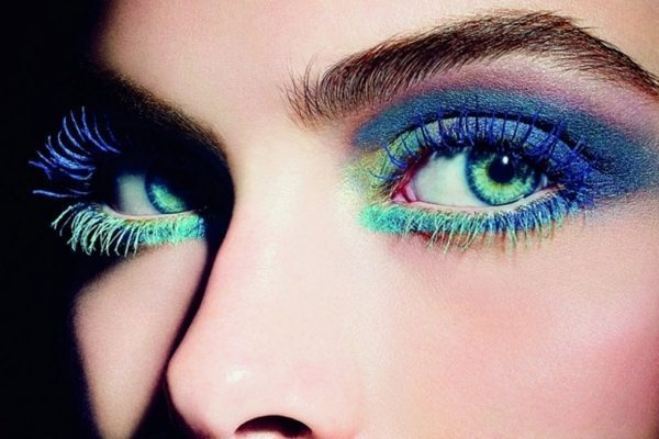 makeup с яркими цветными тенями