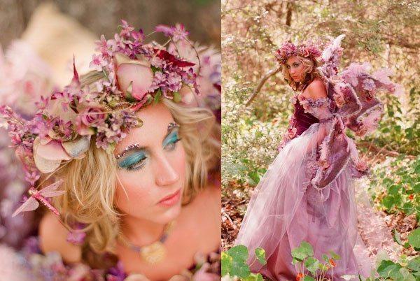 девушка в образе лесной феи