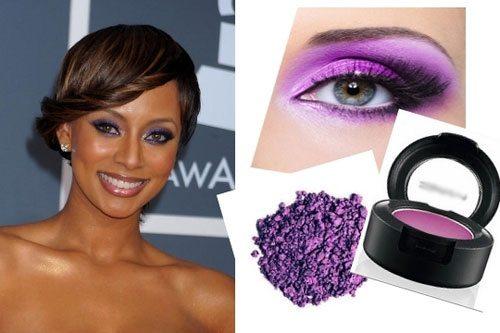 яркий фиолетовый смоки айс на глазах