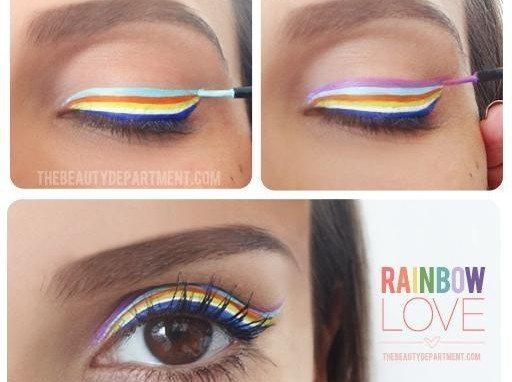 цветные стрелки радугой