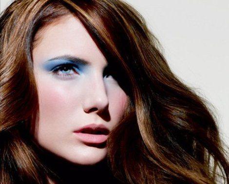 макияж в голубых тонах