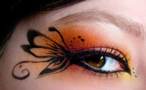 макияж глаз с красивым рисунком