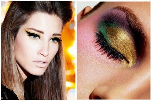 необычный цветной макияж