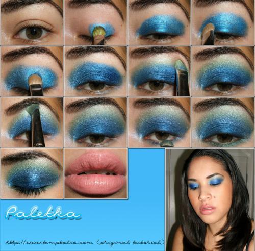подробная схема нанесения makeup