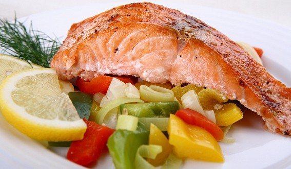 диетический ужин с рыбой