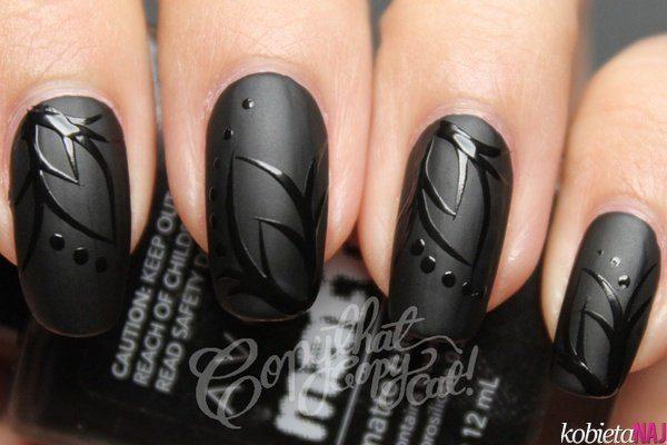 черный nail art