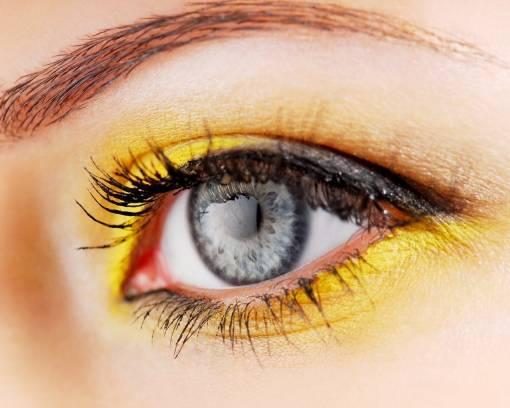 желтый make-up глаз
