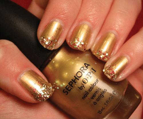золотой дизайн с блестками