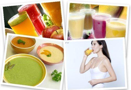 фруктовые соки и овощное пюре