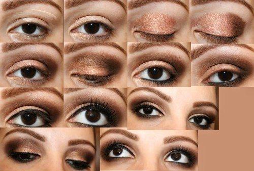 makeup для карих глаз