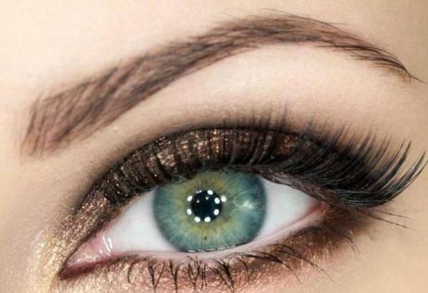 мейк ап для зеленых очей