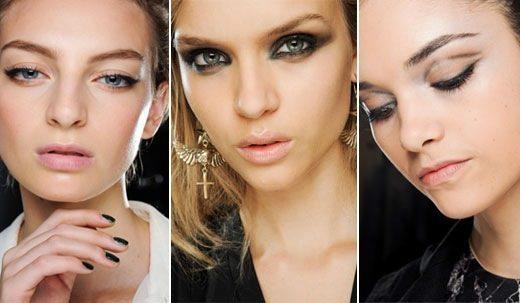 модный make up глаз