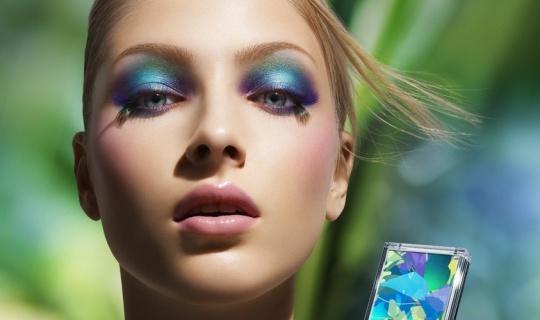 макияж в холодной синей гамме
