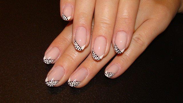 черно- белый nail art