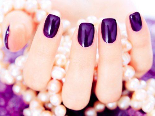 фиолетовые ноготки