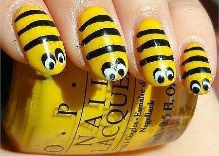 пчелиный нейл арт