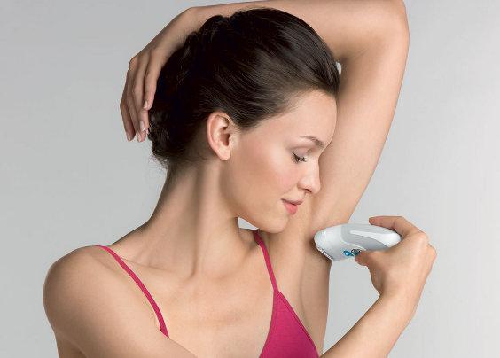 удаление волосков в подмышечных впадинах