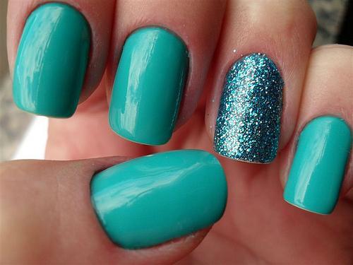 бирюзовый nail art