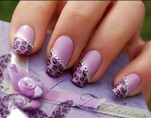 фиолетовый леопардовый принт
