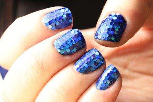синий nail design
