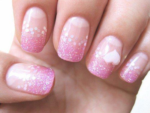 дизайн с розовыми блестками