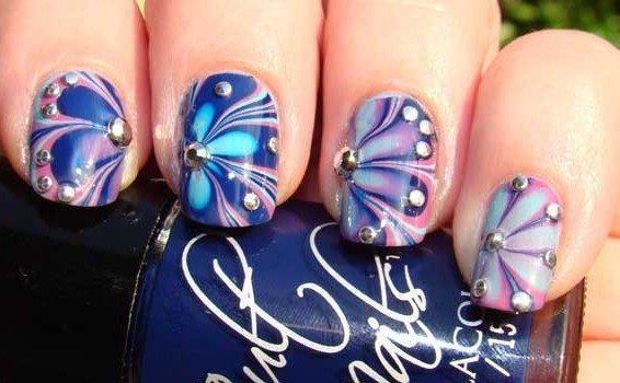 сине- фиолетовый дизайн