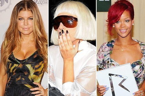 Ферги, Леди Гага и Риана