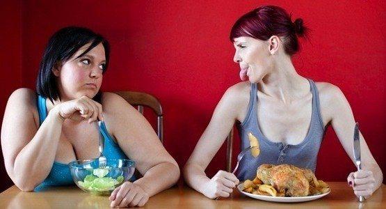 худышка и толстушка