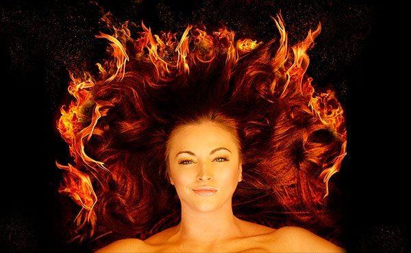 огненная шевелюра