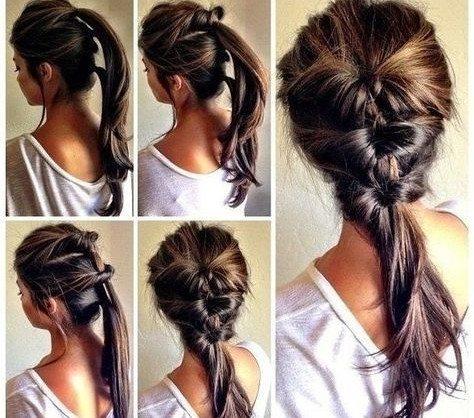 коса из хвостиков