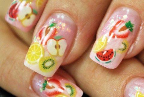 фруктовый nail art