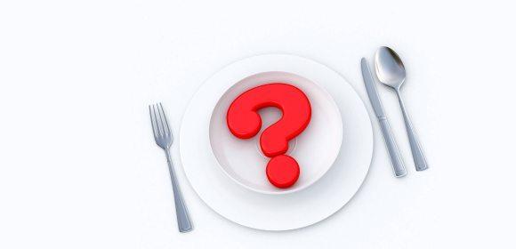 блюдо с вопросом