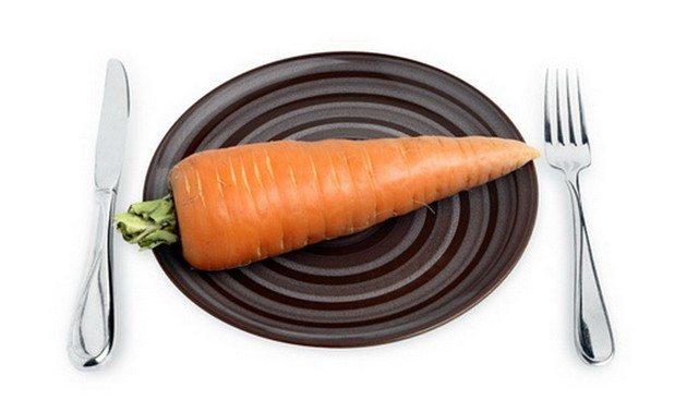 тарелка с морковью